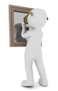einzigartig im spiegel
