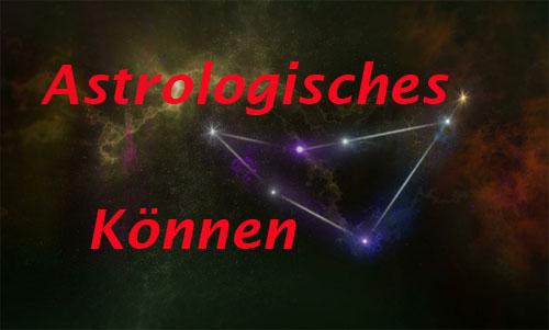 astrologisches können